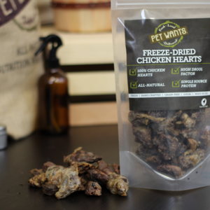 Freeze-Dried Chicken Hearts  3oz
